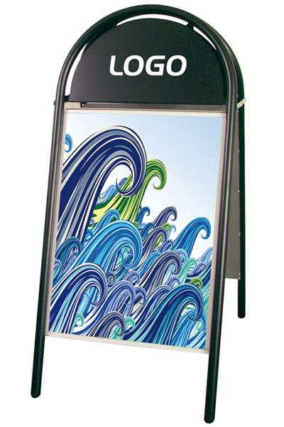 Straßenaufsteller DIN A1 - Farbe Schwarz 25mm Expo Gotik Modell 100